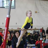 A West Melton gymnast competing in Bar