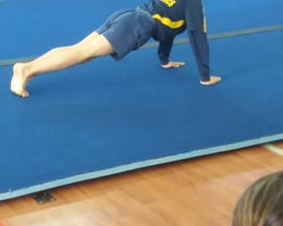 A West Melton gymnast competing in Floor