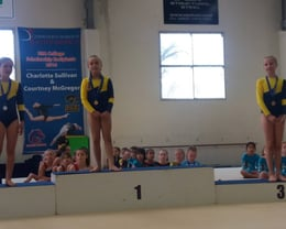 West Melton Gymnastics Club takes over the podium for Iron 8 years and over level - fantastic work!